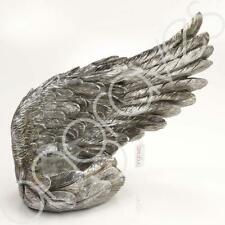 Large Right Decorative Antique Silver Angel Wing Tealight Candle Ornament Home D