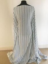 Printed Black/White Striped Cotton Poplin Dressmaking Fabric-1.7 metres
