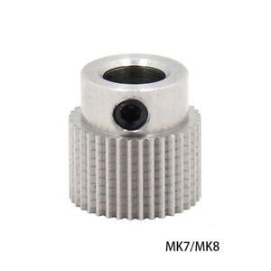36 Teeth 5mm Bore Extruder Drive Gear Stainless Steel Ender 3D Printer