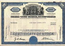 Stock certificate Miehle-Goss Dexter Inc. 1964 State of Delaware