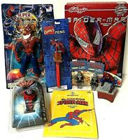Spiderman Collectible Mixed Toy Lot Superhero Marvel Comics Watch Cereal Pen