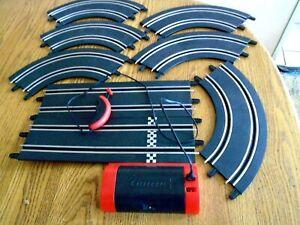 Carrera go 1/43 slot car track Battery Power Supply, Hand Controller + 7 tracks