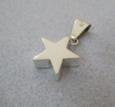 Mexican 925 Sterling Silver Taxco Shiny Thick Chunky Modern Small STAR Pendant