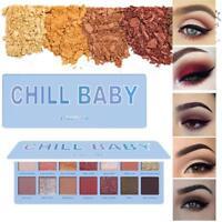14 Farben Lidschatten Palette Matt Glitter Make-up Schimmer Kosmetik J6Z6
