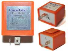 PureTek® Motorcycle Motorbike 2 Pin Speed Adjustable LED Indicator Flasher Relay