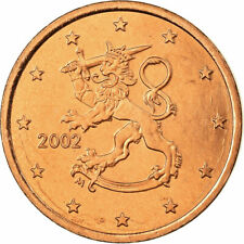 [#722847] Finlande, 5 Euro Cent, 2002, SUP, Copper Plated Steel, KM:100