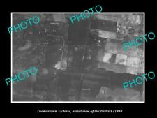 OLD LARGE HISTORIC PHOTO OF MELBOURNE VICTORIA, AERIAL VIEW OF THOMASTOWN c1940