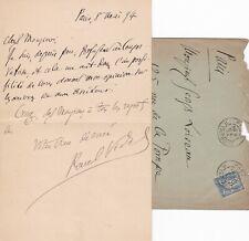 ✒ [Ambroise THOMAS & Mignon] L.A.S Paul VIDAL compositeur prix de Rome 1883