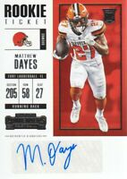 2017 Panini Contenders Football #119 Matthew Dayes RC AUTO Cleveland Browns