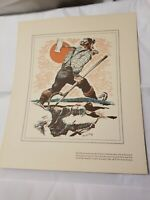 VTG Paul Bunyan Mead Pulp Sales Co. Colored Pencil Dachshund Henry C. Pitz IWH