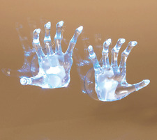Halloween LED SKELETON HANDS on Suction Cups they light up and flash lots of fun