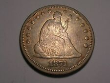 1871 Seated Liberty Quarter (VF/XF & Attractive)