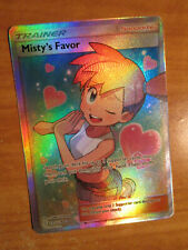 NM FULL ART Pokemon MISTY'S FAVOR Card UNIFIED MINDS Set 235/236 Rare Trainer
