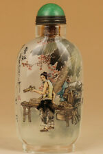 Glass Hand Painting china craftsman Founders luban Plane of wood snuff bottle