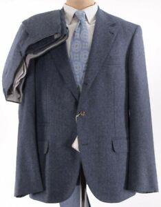 Brunello Cucinelli NWT Suit Size 42R In Air Force Blue Melange Flannel $3,895