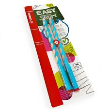 2 x STABILO Easygraph Handwriting Pencils - HB - Right Handed -Light Blue Barrel