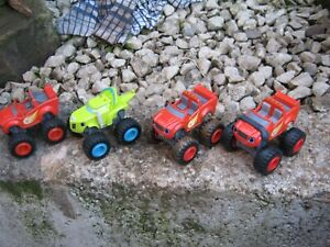 4 Blaze and The Monster Machines Die-Cast Race Cars