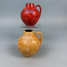2 Scheurich Minis Fat Lava West Germany Pottery Mid Century Vase 470-7