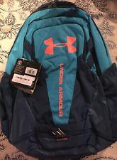 Under Armour Hustle 3.0 backpack, Deceit Blue / Magma Orange, $55 NWT