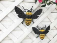 Set of 2 Bumble Bees Metal Wall Art Garden Wall Art Garden Sculpture Ornaments