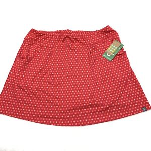 Title Nine Breeze Skirt Size M New Pink Watercolor Polka Dot Pockets Stretch