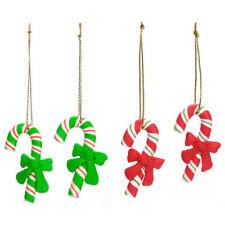Darice Christmas Decor - Claydough Candy Cane Miniature Ornament 4pc