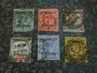 GB ED VII ADMIRALTY OFFICIALS STAMPS SG0101-0106 FINE & HEAVY USED