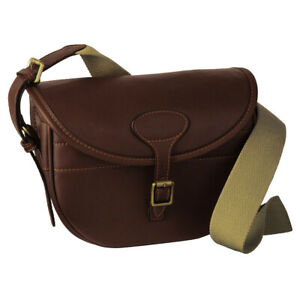 Guardian Heritage Leather Cartridge bag 100 capacity with brass fittings