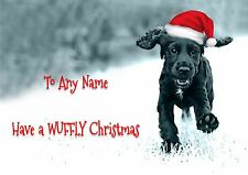 PERSONALISED 'FROM THE DOG' CHRISTMAS CARD Name on front, your message inside