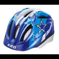 KED Meggy Blue Stars Fahrrad Kinderhelm Kopfschutz Sicherheit Bike Scooter- blau