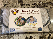 New listing Snoofybee Unisex Portable Baby Changing Pad, Grey/White