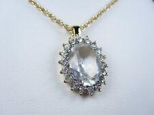 "Swarovski Crystals - 16-18"" length 1376 Nina Ricci Gold Plated Pendant with"