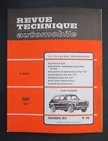 REVUE TECHNIQUE AUTOMOBILE RTA FIAT 127 1972 n°319