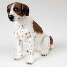 POINTER Dog HAND PAINTED FIGURINE Resin Statue COLLECTIBLE Brown White puppy NEW