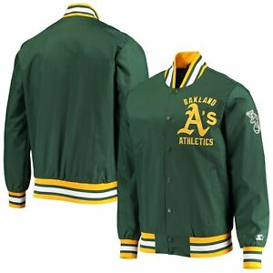 Oakland Athletics Starter The Jet III Full-Snap Jacket - Green