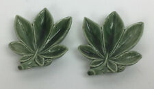 Wade England Pottery Figurines Ash Trays Set Of Two Leaves