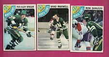1978-79 TOPPS NORTH STARS ZANUSSI + BRASAR + MAXWELL  ROOKIE  CARD
