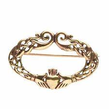 Irish  Bronze Claddagh Celtic brooch