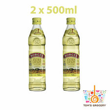 2 x Borges Extra Light Olive Oil Highest Quality 2 x 500ml 17.6 fl oz