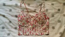 NWT Floral Bustier