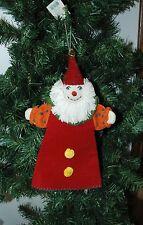 Wool Santa Clown Hand Puppet Christmas Ornament