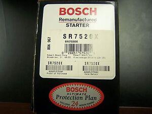 Bosch SR7520X SR7545X Remanufactured Starter Explorer Ranger Navajo B Series