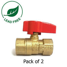 """1/2"""" FIP X 1/2"""" FIP CSA Approved Straight Brass Gas Ball Valve 600 WOG-Pack of 2"""