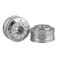 2PCS Aluminium Alloy Front Wheel Rims Silver 50010 for TAMIYA RC1:14 Model Car