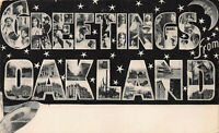 Large Letter:  Greetings From Oakland, California, Early Postcard, Unused