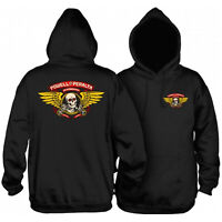 Powell Peralta Skateboard Hoodie Winged Ripper Black