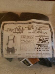 Big Dog Tree Stand Full Body Safety Harness- BDH-2000S Full Body Harness