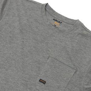 Ariat Rebar Mens Crew Neck Tshirt Long Sleeve Size M