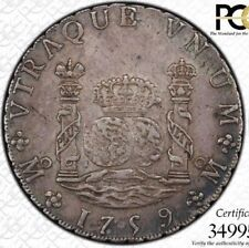 A VERY PLEASING COLONIAL MEXICO 1759- MO MM 8R PCGS XF45 TONED 8 REALES PILLAR