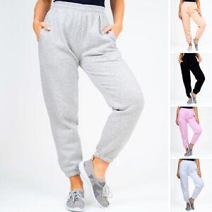 Womens Joggers Oversized Sweatpants Cuffed Ladies Jogging Bottoms Pants Gym